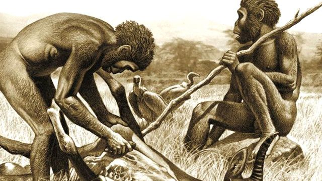 mesa-habla-casqueria-hominidos-cazando 1