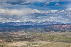 The Rockies from Mesa Verde National Park
