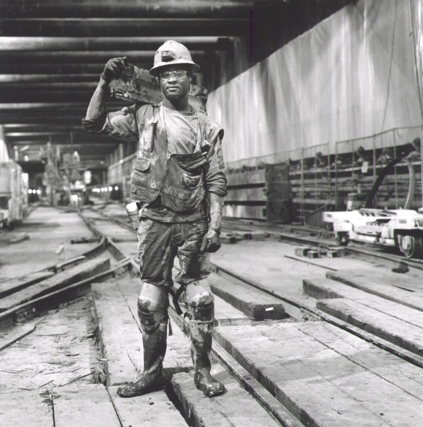 Miner at Bottom Landing Wilshire & LaBrea (Photo credit: Ken Karagozian)