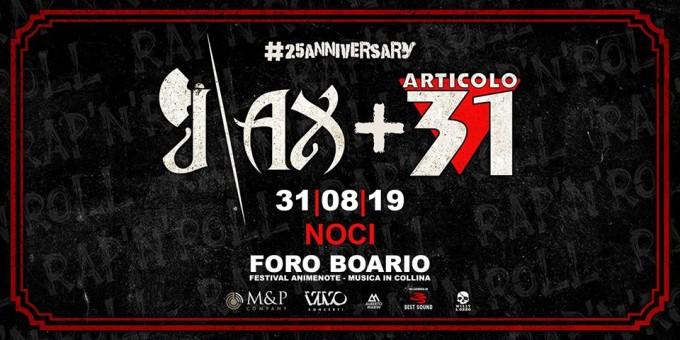 J-Ax + Articolo 31 ritornano in Puglia: Il concerto a Noci sarà Esplosivo!