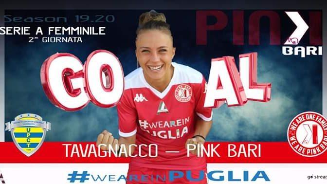 Serie A: Si conclude 1-1 il match Tavagnano vs Pink Bari – Novellino in rete