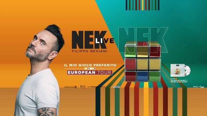 """Nek Live: """"Il mio gioco preferito tour 2019/2020"""" passa da Lecce e Bari a Gennaio."""