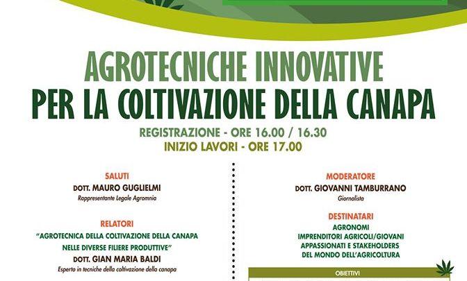 La coltivazione della Canapa in Puglia: se ne parla a San Marco in Lamis (Fg) il 28 Novembre