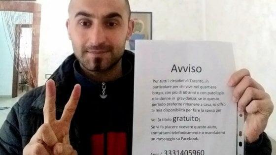 Taranto, Coronavirus: Amir, rifugiato curdo, porta la spesa a domicilio gratis a chi ne ha bisogno
