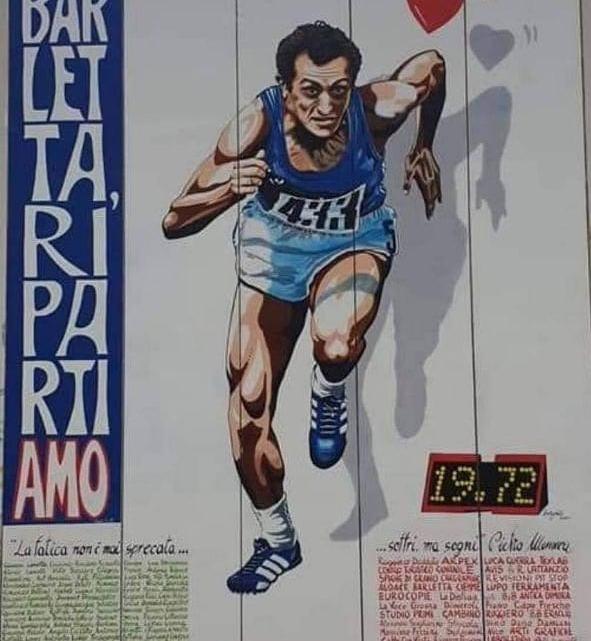 Murale dedicato a Pietro Mennea inaugurato a Barletta: la città omaggia così il suo campione