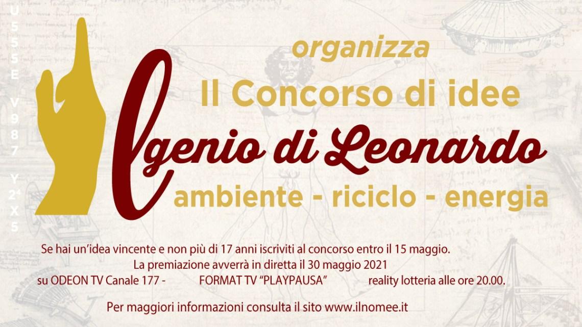 """Concorso creativo """"Il Genio di Leonardo"""" su Ambiente, Riciclo, Energia: ecco come partecipare"""