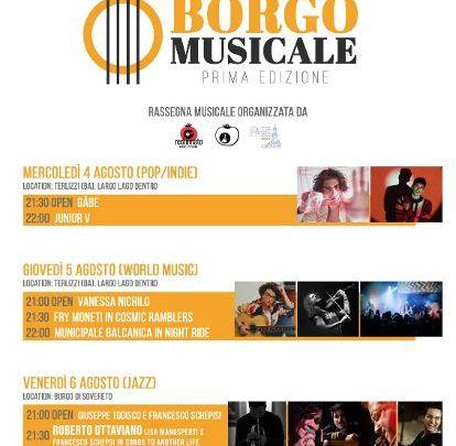 """Terlizzi (Ba): prima edizione della rassegna gratuita di musica """"Borgo Musicale"""""""