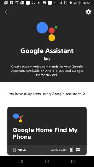 IFTTT Google Assistant