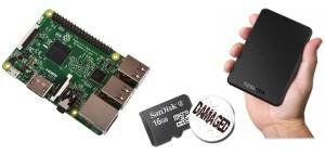 Raspberry hard disk esterno | Come collegare | Alternativa scheda SD