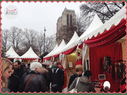 Marché de Noel accanto a Notre Dame