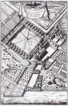 Vue cavalière de la chartreuse de Paris, d'après une gravure du Cabinet des estampes de la Bibliothèque nationale.
