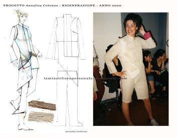 bozzetto e foto COLLEZIONE RIGENERAZIONE - Annalisa Colonna - lw