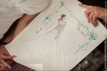 (B)Annalisa Colonna's special gift for the bride, the sketch of her tailored wedding dress - Ph Nicola Centoducati