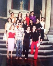 Classe di Fashion design - Consegna dei diplomi Polimoda anno 2001 a Palazzo Vecchio al Salone dei Cinquecento - Firenze