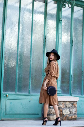 trench en suedine camel pimkie bloggueuse mode paris