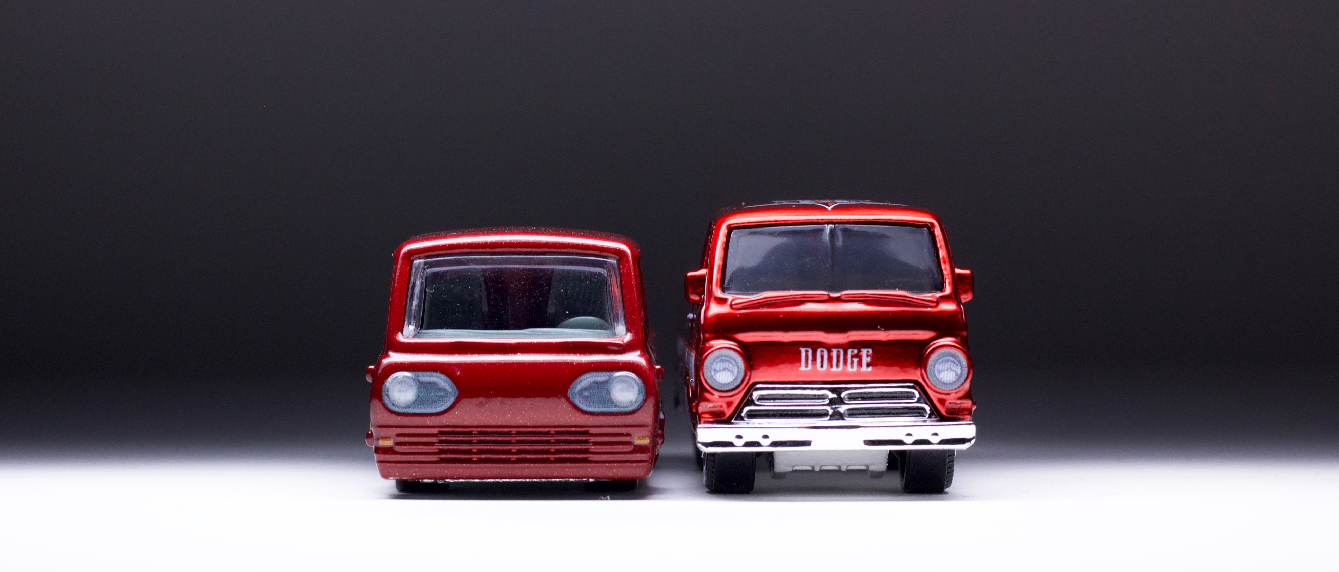 A Tale of Two: Hot Wheels Ford Econoline & Matchbox Dodge