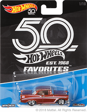 The Hot Wheels 50th Anniversary Favorites Line Is Coming