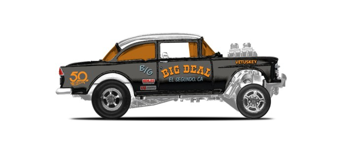 32. '55 Chevy Bel Air Gasser