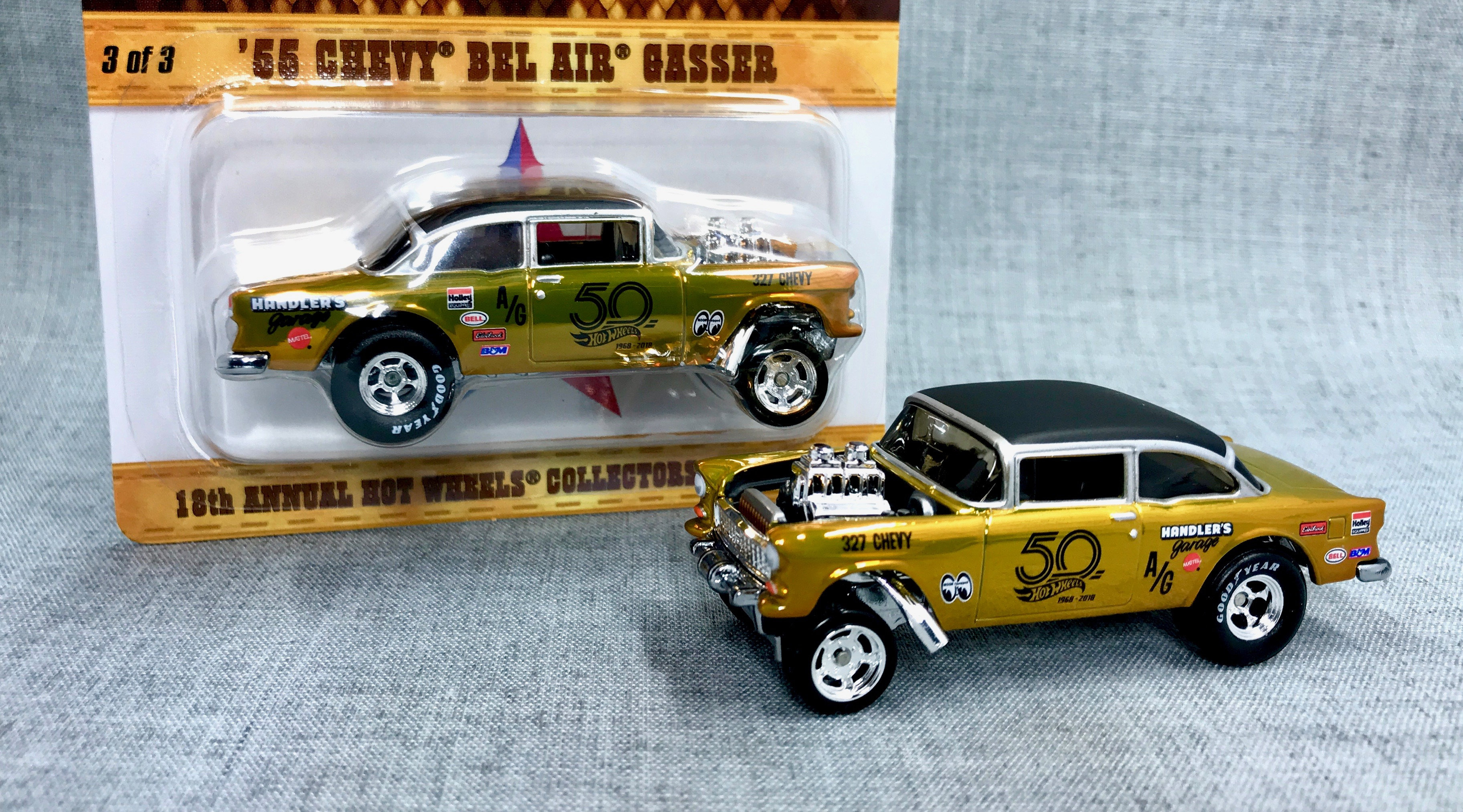 Hot Wheels just unveiled the gold '55 Bel Air Gasser