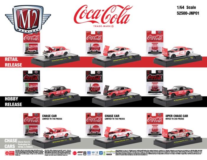 M2 Machines modellautók COCA-COLA