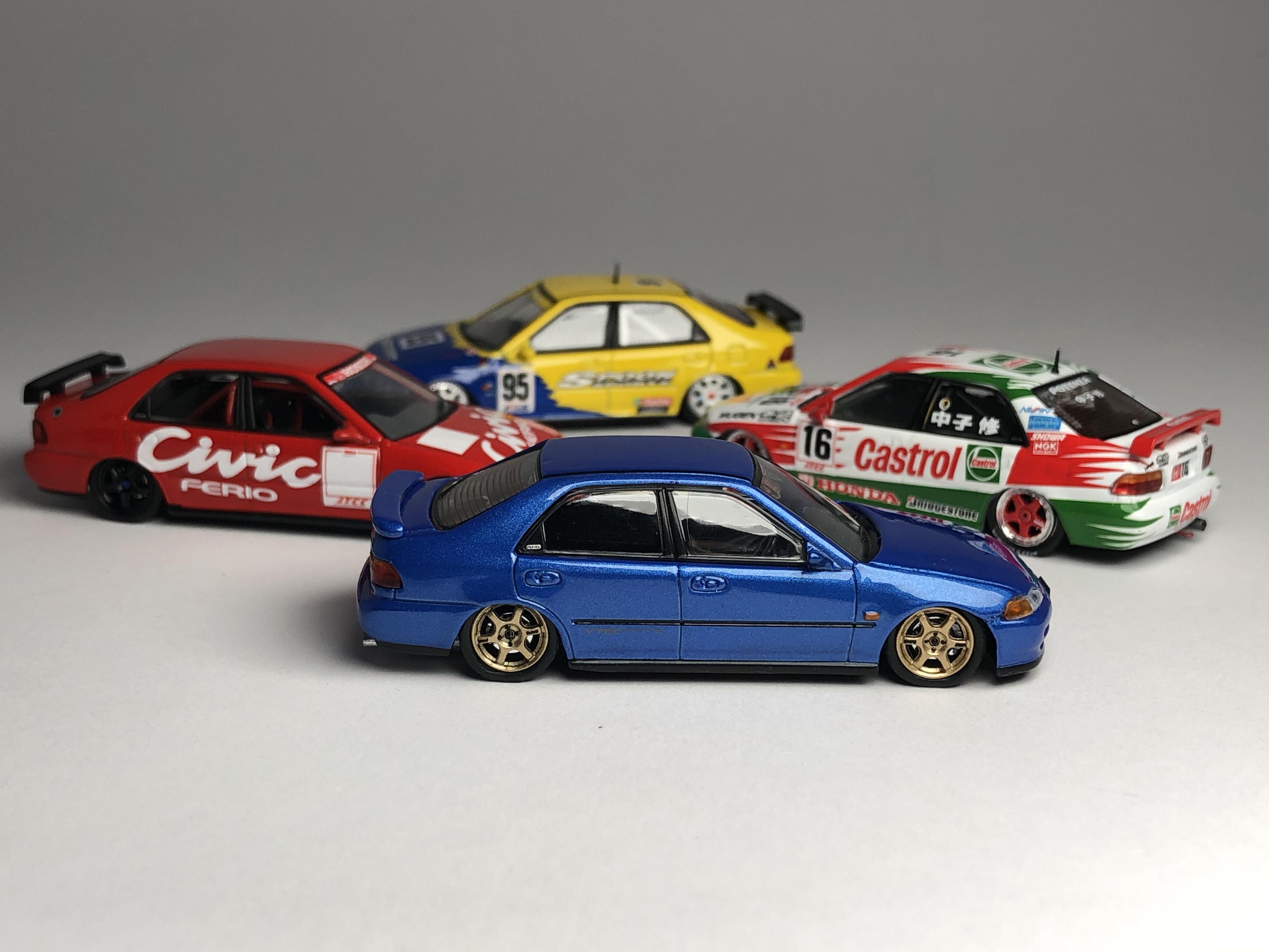 INNO MODELS 1:64 Honda Civic Ferio EG9 Castrol Mugen INNO64