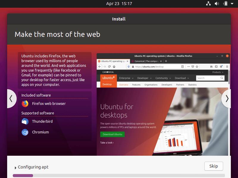 Proses install ubuntu 20.04