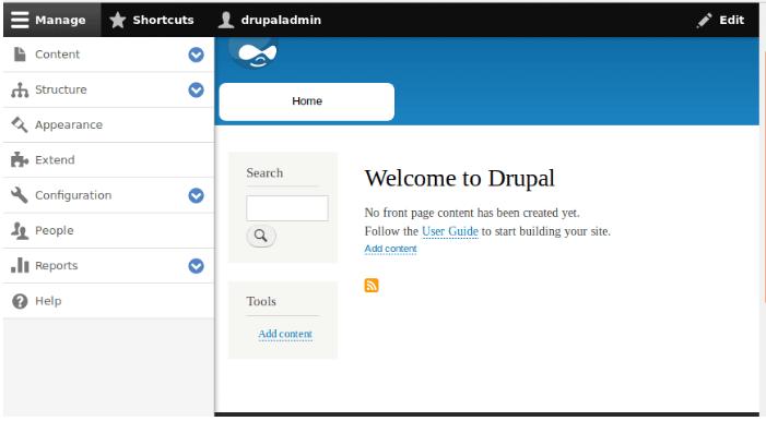 Contoh Dashboard Drupal