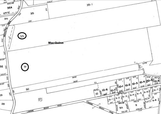 Map3Lots31,33.MacQuinn