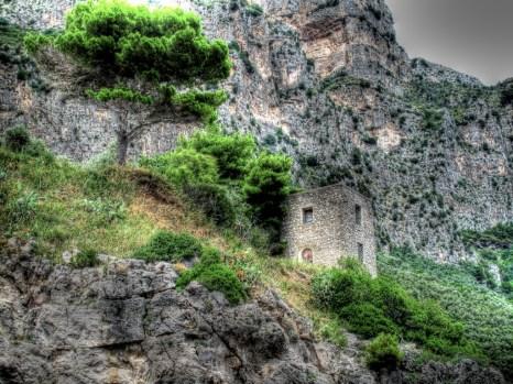 Old villa along the Amalfi Coast.