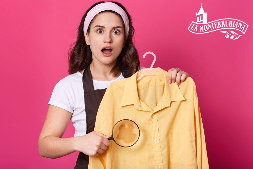 limpiar manchas de aceite de la ropa