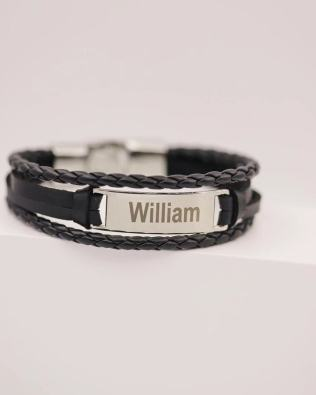 Braid men core bracelet silver