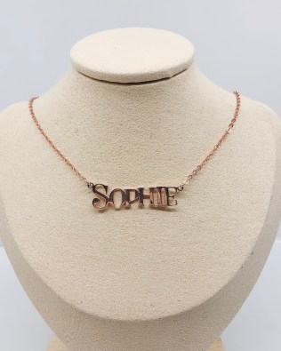 """SOPHIE""Style Name Necklace 18k Gold Plated Silver"