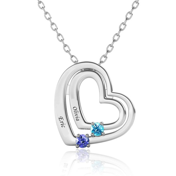 love style name necklace with name on it platinum plated silver