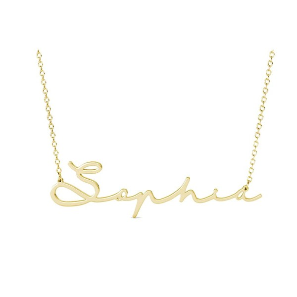 Sophic name necklace personalized 18k gold plated