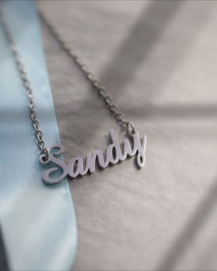 Sandy Style Name Necklace Silver
