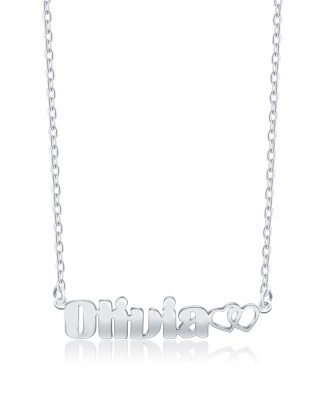 Olivia Style Name Necklace Platinum Plated S925