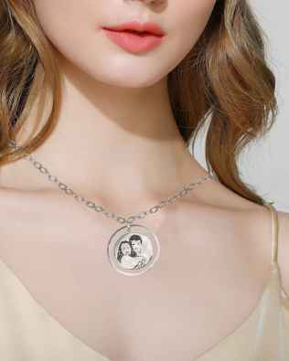 Luna Photo Necklace Silver S925