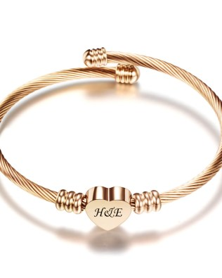 Love Engravable Bracelets Titanium Steel Rose Gold Plated