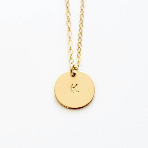 engrave necklace 18k gold plated silver sterling
