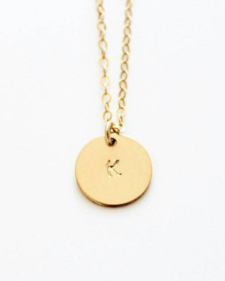 Engravable Coins Necklace 18k Gold Plated S925