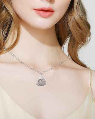 Love Photo Necklace Silver S925