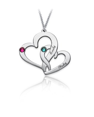 Two Heart Necklace Silver S925