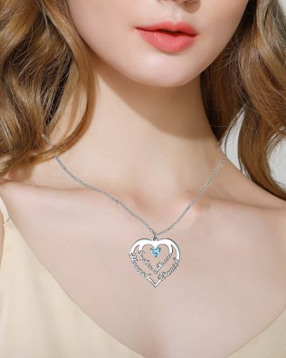 Heart Necklace 4 Name Silver S925