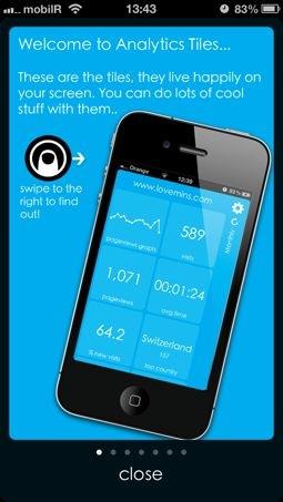 Analytics Tiles App