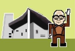 Arquitectos en 8 bits - Le Corbusier por Federico Babina