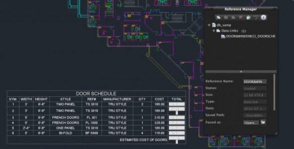 AutoCAD 2015 para Mac Actualización Automática de tablas de Excel