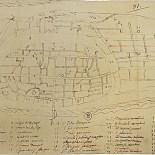 Primera representación planimétrica de la ciudad, alrededor de 1610