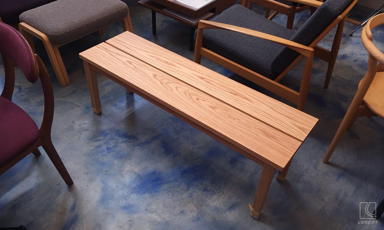 オーダー家具、オーダーベンチ、レッドオーク無垢材