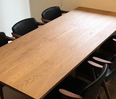 オーダーアイアン脚テーブル/ナラ無垢材(豊田市S邸)