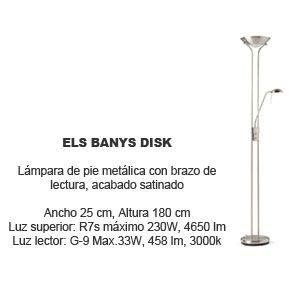 lamparas de pie baratas Els Banys Disk